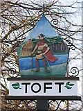 TL3656 : Toft village sign by Craig Hilton-Taylor