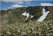 NH9802 : The northern cliffs of Cairn Lochan by Nigel Brown