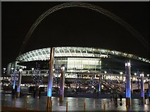 TQ1985 : Wembley: the stadium by night by Chris Downer