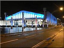 TQ1985 : Wembley Arena: floodlit in blue by Chris Downer