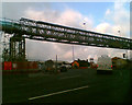 O0830 : Temporary bridge at the Red Cow roundabout by Steve  Fareham