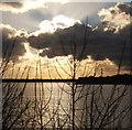 SD1778 : Hodbarrow lagoon and a spectacular sky by Andrew Hill