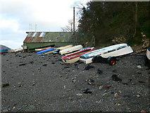 SH5873 : Boats, Garth Beach by Eirian Evans