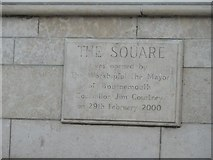 SZ0891 : Bournemouth: The Square plaque by Chris Downer
