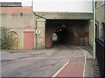 SU3521 : Tunnel under Romsey Railway Station by Rosemary Oakeshott