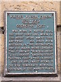NY9363 : Plaque re Wilfrid Wilson Gibson, Georgian Poet by Mike Quinn
