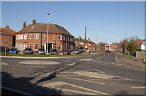 TL4097 : Roundabout at the entrance to Norwood Road by dennis smith