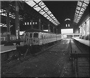 SJ8499 : Platform 5, Manchester Victoria station by Dr Neil Clifton