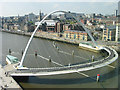 NZ2563 : Millennium Bridge and Quayside from The Baltic by Ian Drummond