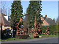 TL4464 : Tony Hillier's sculpture garden by Keith Edkins