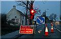 NZ1627 : Temporary traffic lights by Helen Wilkinson