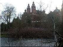 NS5666 : Looking to Kelvingrove Museum and Art Gallery from across the River Kelvin by Stephen Sweeney