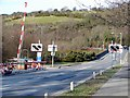SN6180 : Vale of Rheidol Railway level crossing at Glanyrafon by John Lucas