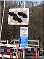 SN6180 : Vale of Rheidol Railway level crossing at Glanyrafon by John Lucas