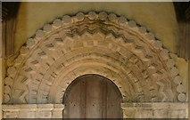 TM3898 : Norman Arch over South door of St. Gregory's Church by Bill Sibley
