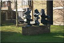 TL4359 : Three Figures, Sean Crampton, 1970 by Fractal Angel