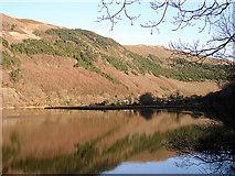 SN7079 : The Rheidol dam reservoir by John Lucas