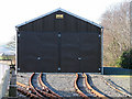 SN6479 : Vale of Rheidol Railway, Rolling Stock Storage Shed by John Lucas