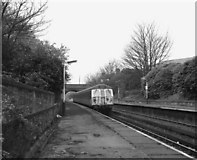 SD8203 : Looking West at Heaton Park station by Dr Neil Clifton