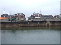 SX9291 : Quayside with dredging work by David Smith