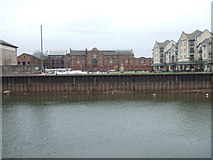 SX9291 : Quay, Piazza Terracina, Electricity station (disused) by David Smith
