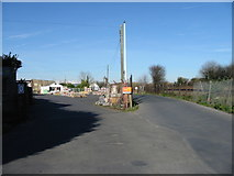 TR3752 : Entrance to builder's merchant and timber yard, Deal by Nick Smith