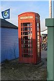 SZ1891 : Telephone kiosk, Mudeford Spit by Jim Champion