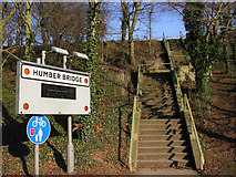 TA0225 : Steps to the Humber Bridge (north west end) by George Robinson