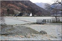 NY3911 : Rock, Bridge and Field Near Hartsop Hall by Mick Garratt