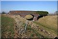 SK7926 : Bridge in a field by Kate Jewell