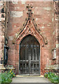 SJ6353 : St Mary's Church, Acton: south doorway by Espresso Addict