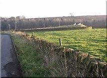 SE1220 : Footbridge over motorway, Pinfold Lane, Fixby by Humphrey Bolton