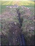 SE1220 : Land drain along the old township boundary, Pinfold Lane, Rastrick / Fixby by Humphrey Bolton