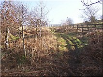 SE1219 : Path alongside the M62, Elland by Humphrey Bolton