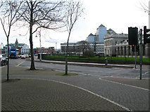 O1634 : Traffic island, Amiens Street by Lisa Jarvis