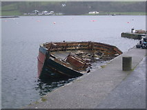 NS0767 : Port Bannatyne Pier and sinking boat by Nick Mutton