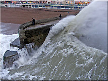 TQ3103 : Rough Sea at Brighton, East Sussex by Christine Matthews