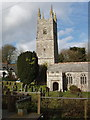 SX1995 : Jacobstow Church and churchyard by David Hawgood