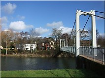 SX9291 : Trew's Weir Suspension Bridge by Derek Harper