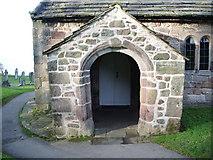 SD4161 : Parish Church of St Peters, Heysham, Porch by Alexander P Kapp