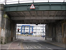 TQ7369 : Railway Bridge at end of Canal Road by Danny P Robinson
