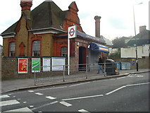TQ2572 : Wimbledon Park Underground Station by Stacey Harris