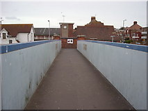 TQ7407 : Footbridge over the railway station, Bexhill-on-Sea by Bill Johnson