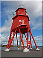 NZ3668 : The Groyne Lighthouse, South Shields by wfmillar