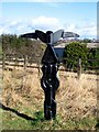 NZ2542 : Signpost on the Lanchester Valley Walk by Roger Smith