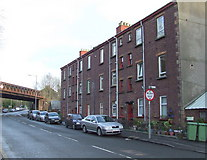 NS4473 : Flats on Dumbarton Road, Bowling by Thomas Nugent
