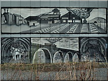 NZ2672 : Closeup Of The A189 Mural At Weetslade by Kevin Richardson