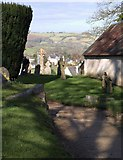 SX7087 : Churchyard, Chagford by Derek Harper