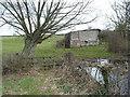 SO8031 : Tumbledown outbuilding, Eldersfield by Pauline E