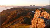 NG5739 : Summit rock, Dun Caan by Calum McRoberts